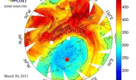 Arctique la couche d ozone ne s est jamais aussi mal - Distance entre la terre et la couche d ozone ...