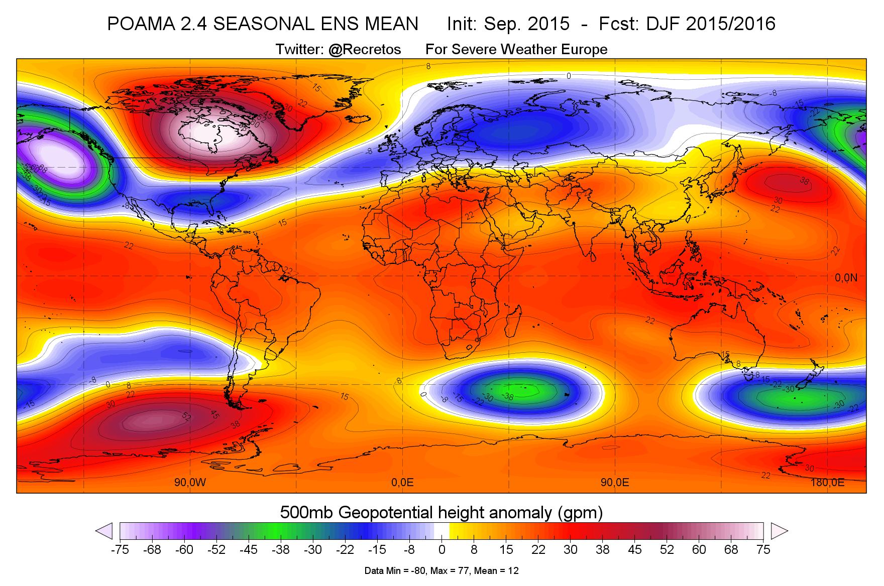Prévisions des futures chutes de neige pour l'hiver 2015-2016 Previsions-anomalies-500mb-monde-2015-2016