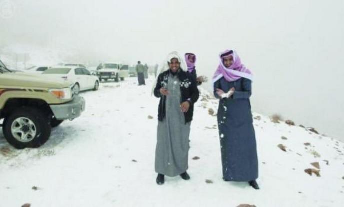Nieve-Arabia Saudita-janvier2016