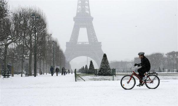 A Paris sous la neige
