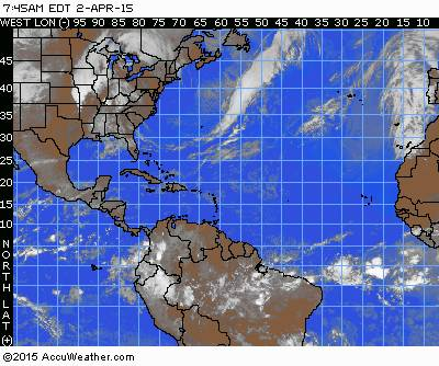 Atlantic / Gulf / Caribbean Satellite Map